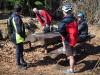 Kremnické vrchy - Pršianske lazy - náhodné stretnutie bežkárov a cyklistov (autor foto: PeterC)