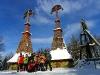 Poľsko, Nízke Beskydy - Rotunda, vojenský cintorín; zimný zraz v Bardejove (foto: TT)