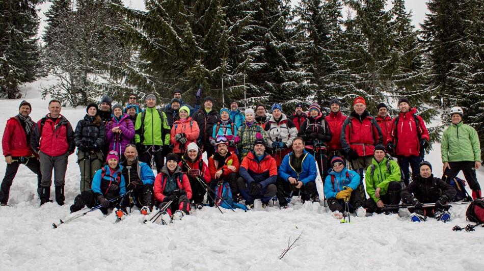 Účastníci zimnej časti kurzu VhT (autor foto: Miroslav Kováč)